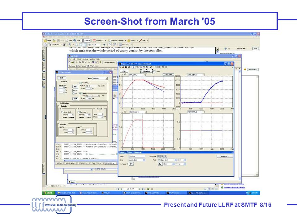 Present and Future LLRF at SMTF 8/16 Screen-Shot from March 05