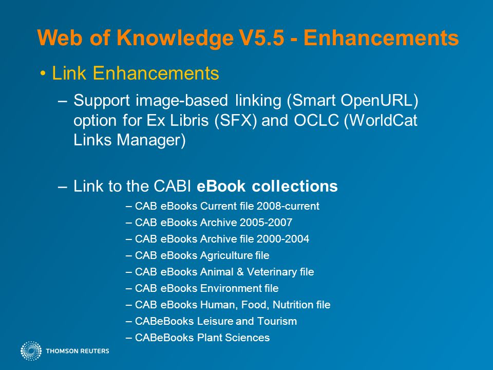 4019abb8526e Link Enhancements –Support image-based linking (Smart OpenURL) option for  Ex Libris