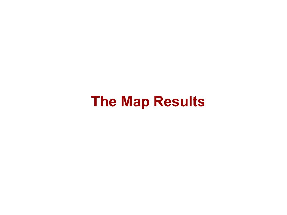 The Map Results