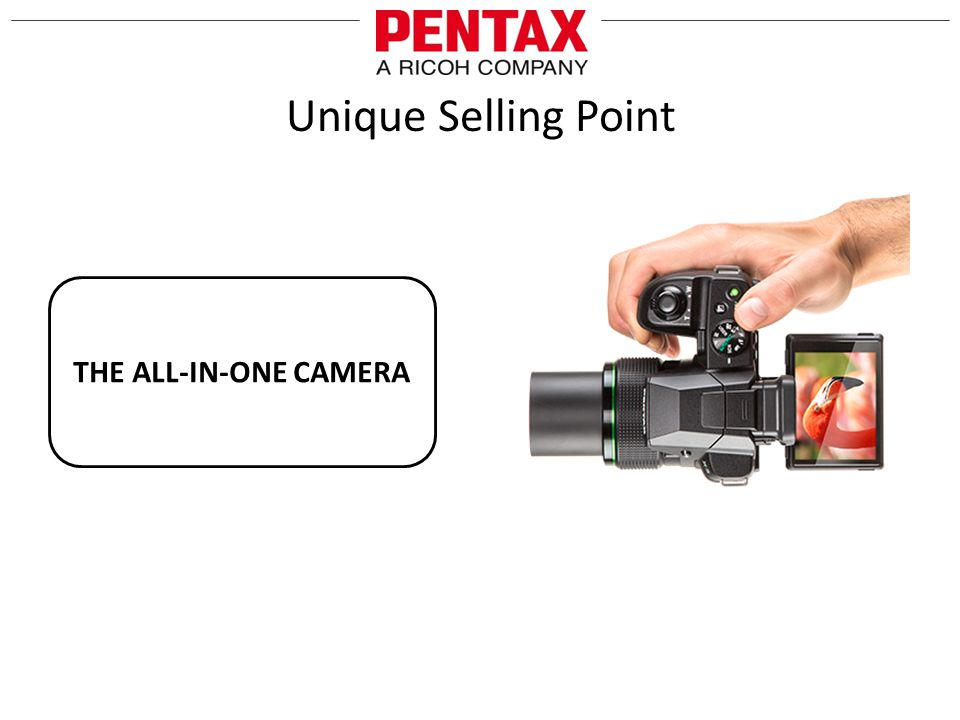 Unique Selling Point THE ALL-IN-ONE CAMERA