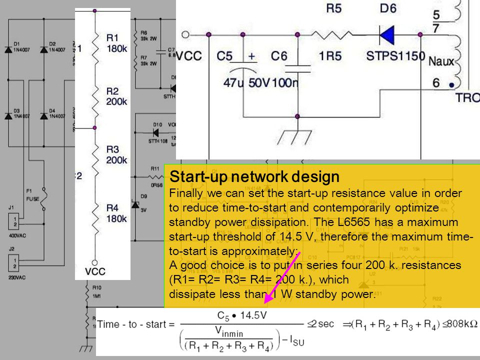 Start-up network design Finally we can set the start-up resistance value in order to reduce time-to-start and contemporarily optimize standby power dissipation.