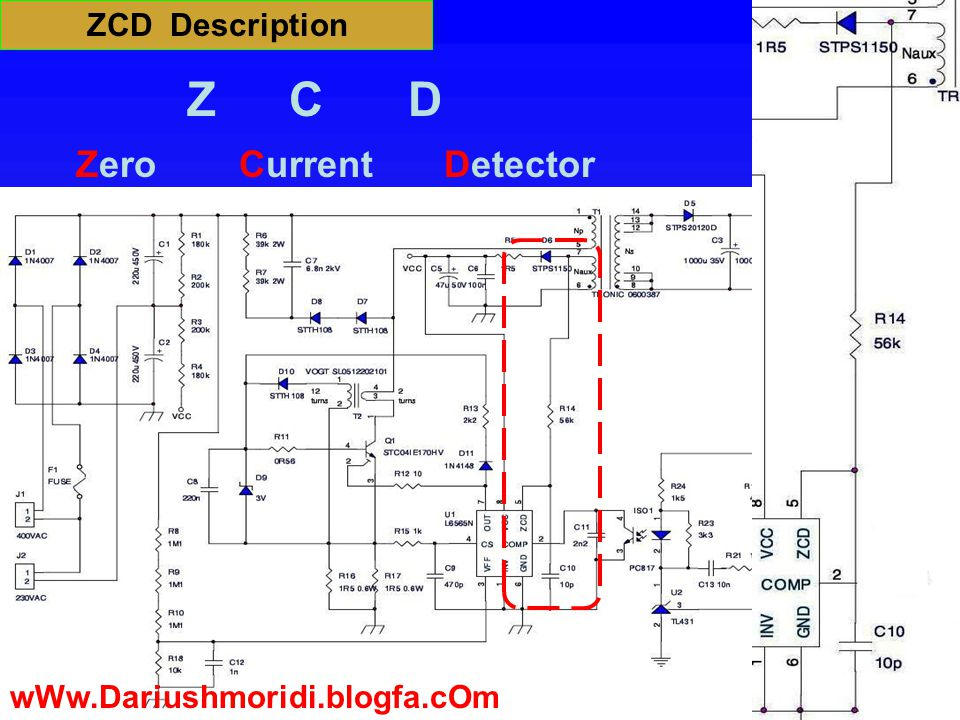 ZCD Description Zero Z CD Current Detector wWw.Dariushmoridi.blogfa.cOm