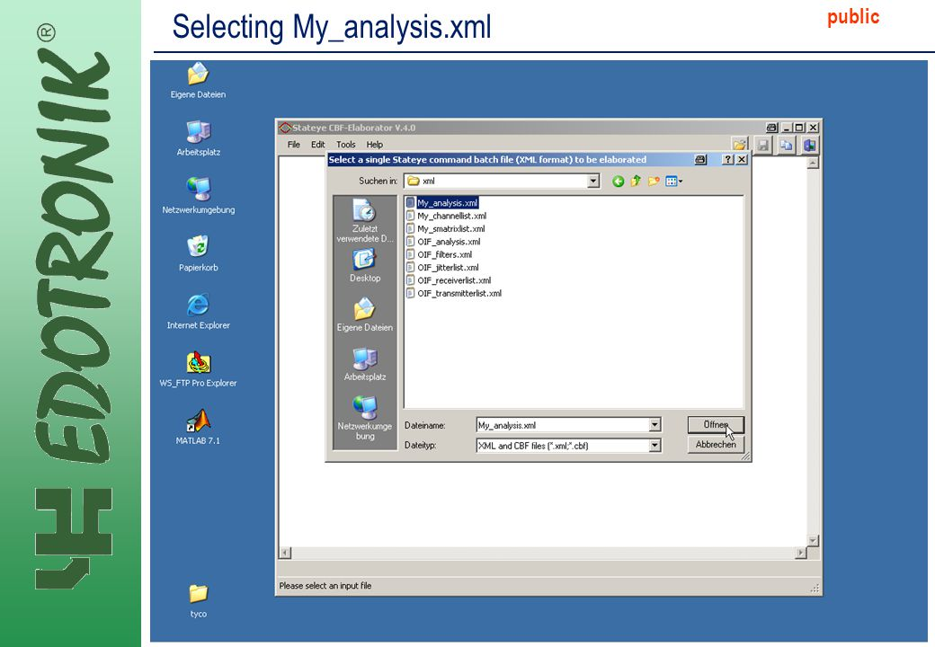 MP IP Strategy 2005-06-22 public Selecting My_analysis.xml