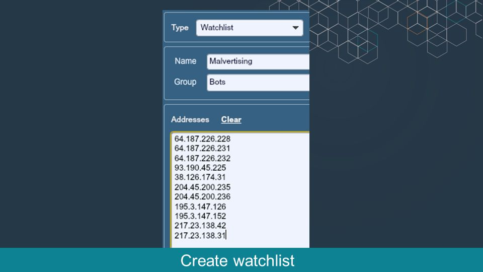 Create watchlist