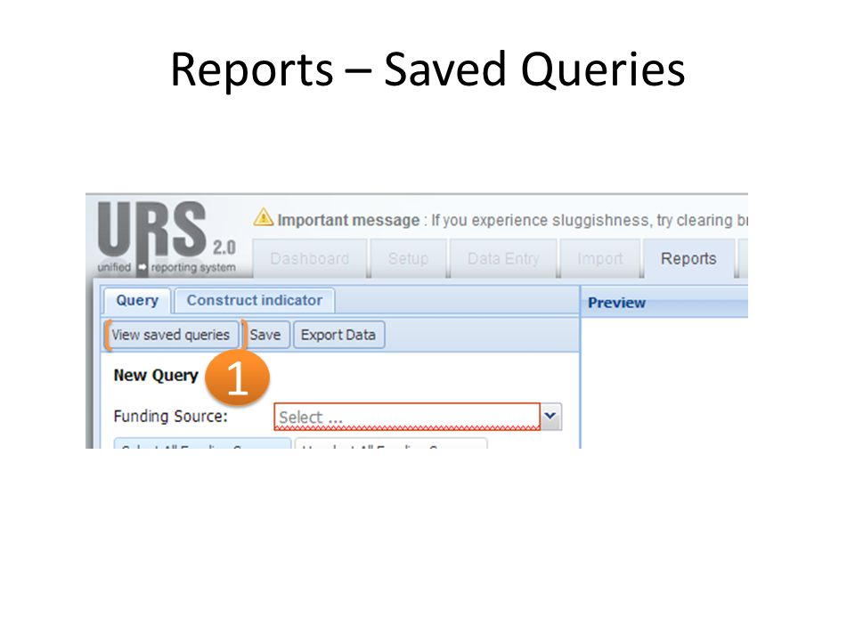 Reports – Saved Queries 1 1