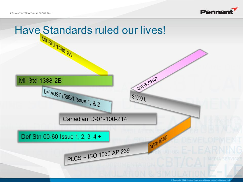 Have Standards ruled our lives! Mil Std 1388 2B Canadian D-01-100-214