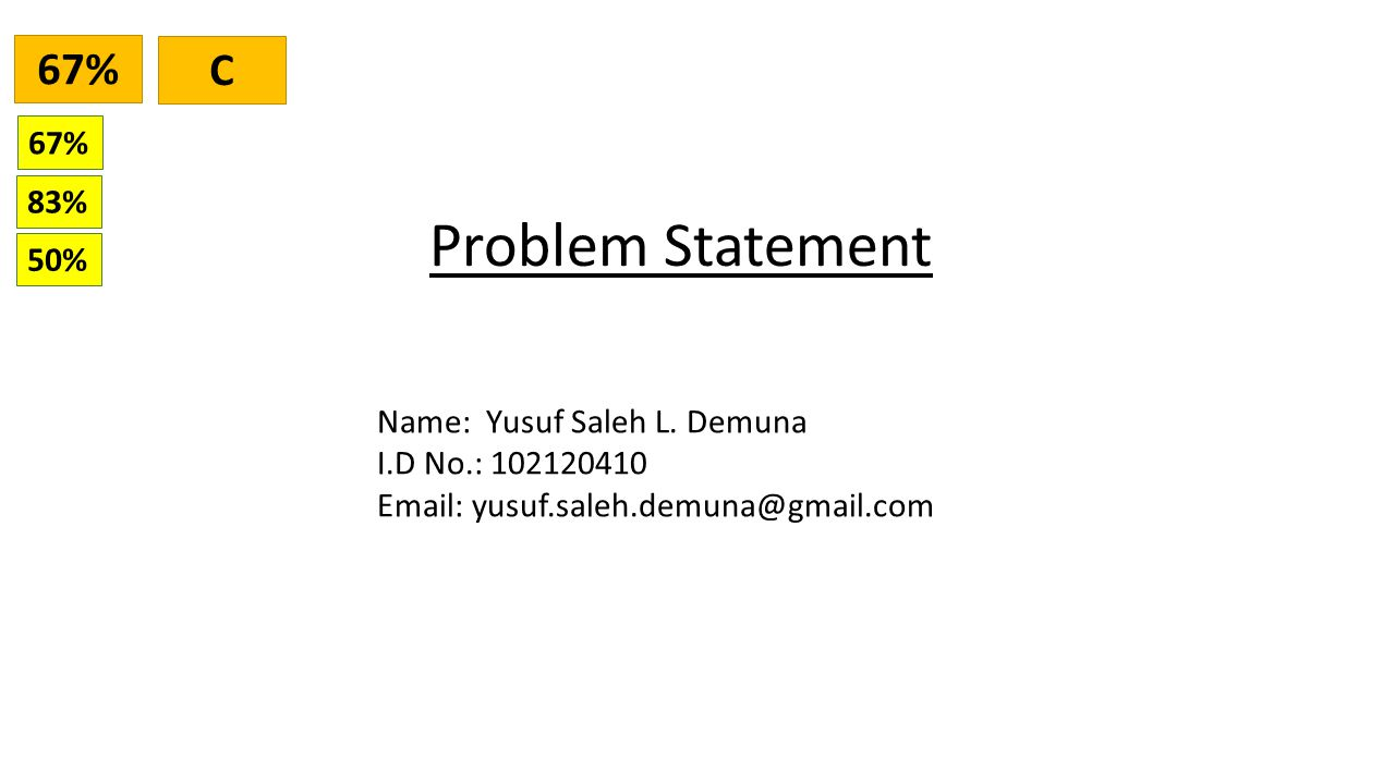 Problem Statement Name: Yusuf Saleh L.