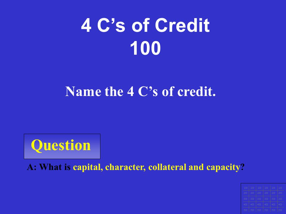 Question A: What is installment credit.