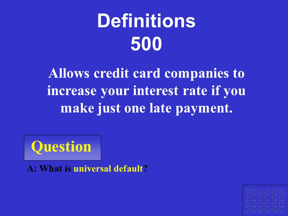 Question A: What is a credit score.