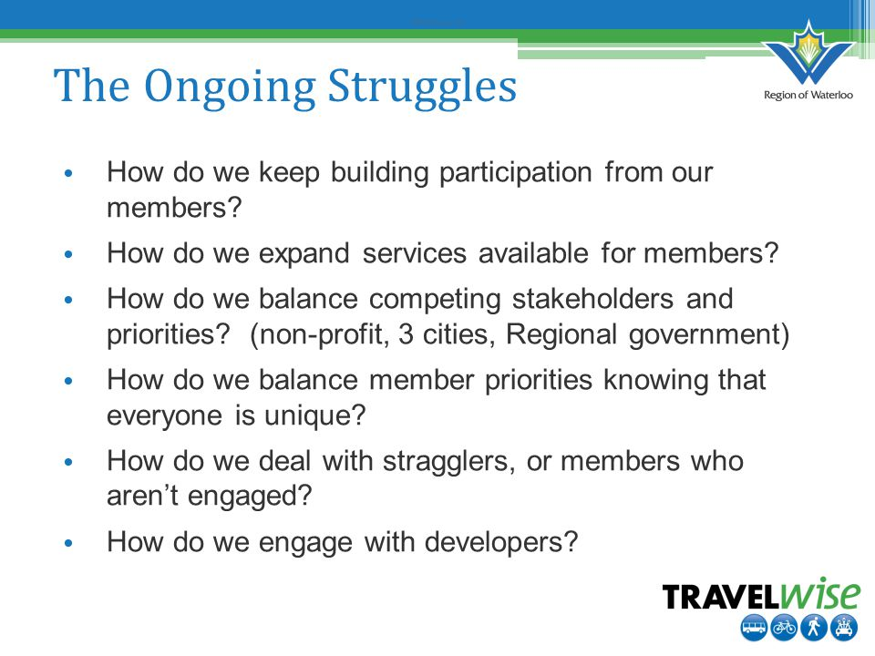 Before Survey #2 The Ongoing Struggles How do we keep building participation from our members.