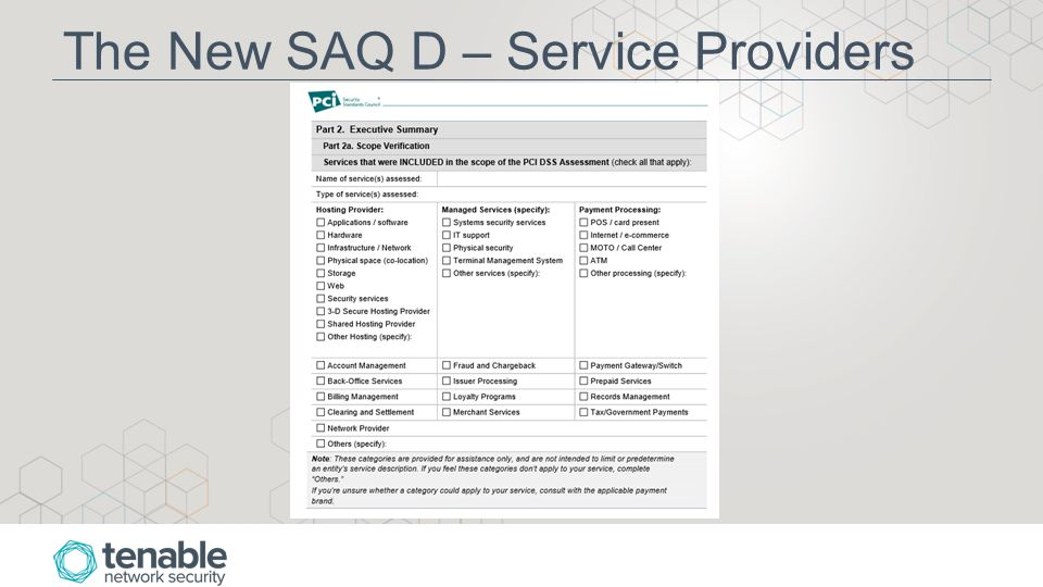 The New SAQ D – Service Providers