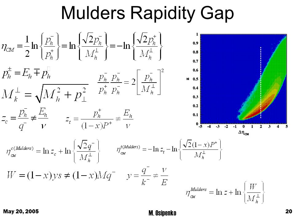 May 20, 2005 M. Osipenko 20 Mulders Rapidity Gap