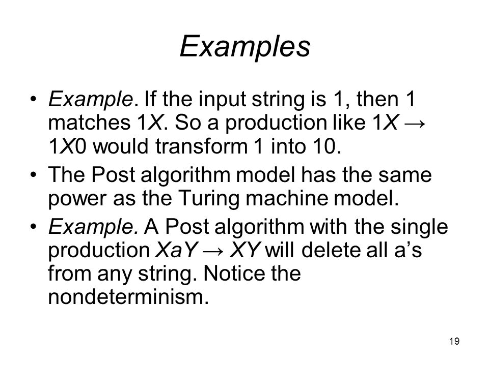 19 Examples Example. If the input string is 1, then 1 matches 1X.