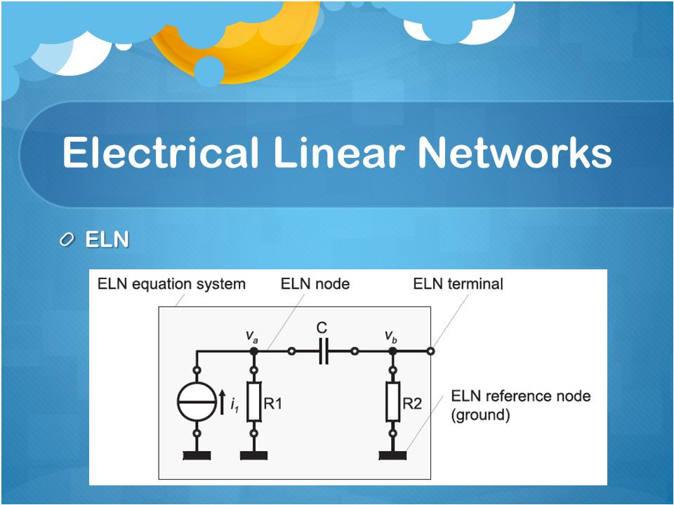 Electrical Linear Networks ELN