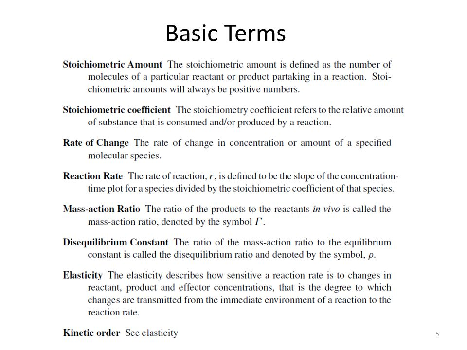 5 Basic Terms