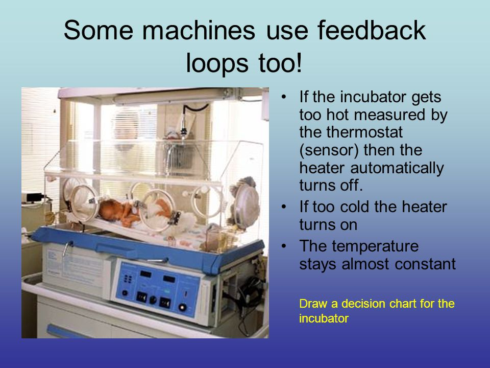 Some machines use feedback loops too.