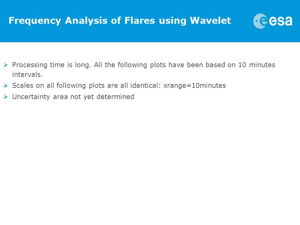 Frequency Analysis of Flares using Wavelet  Processing time is long.