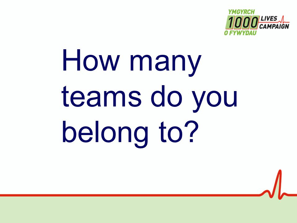 How many teams do you belong to