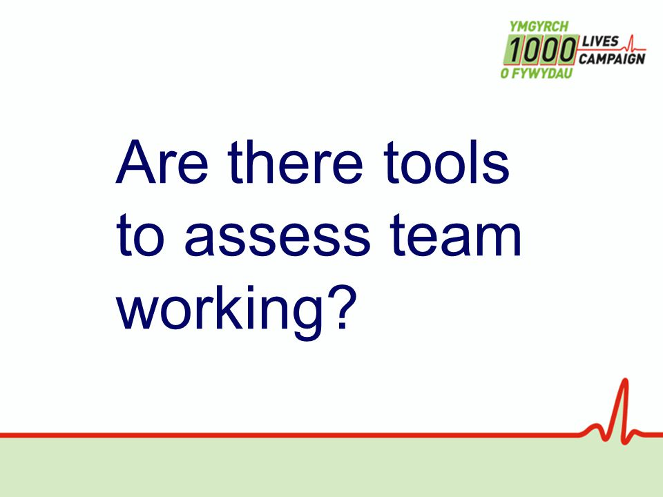 Are there tools to assess team working