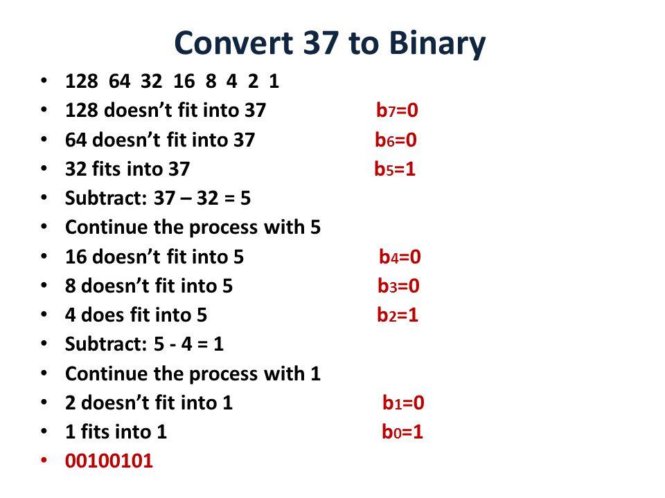 2 Convert 37