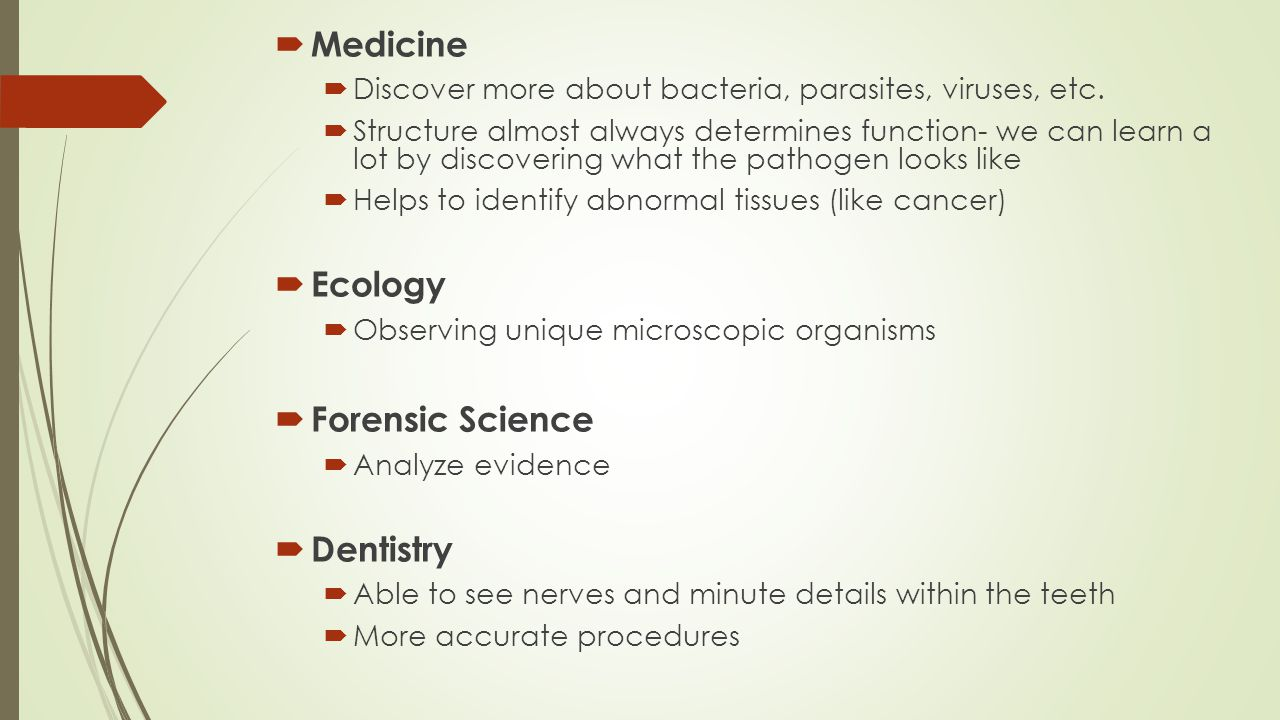  Medicine  Discover more about bacteria, parasites, viruses, etc.