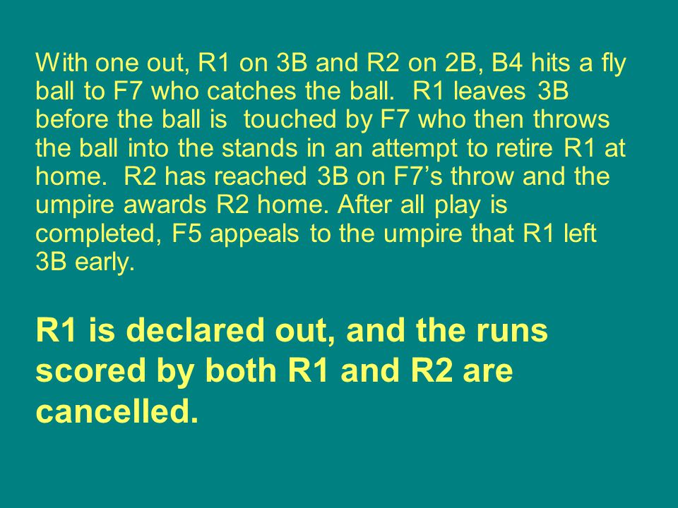 R1 is declared out, and the runs scored by both R1 and R2 are cancelled.