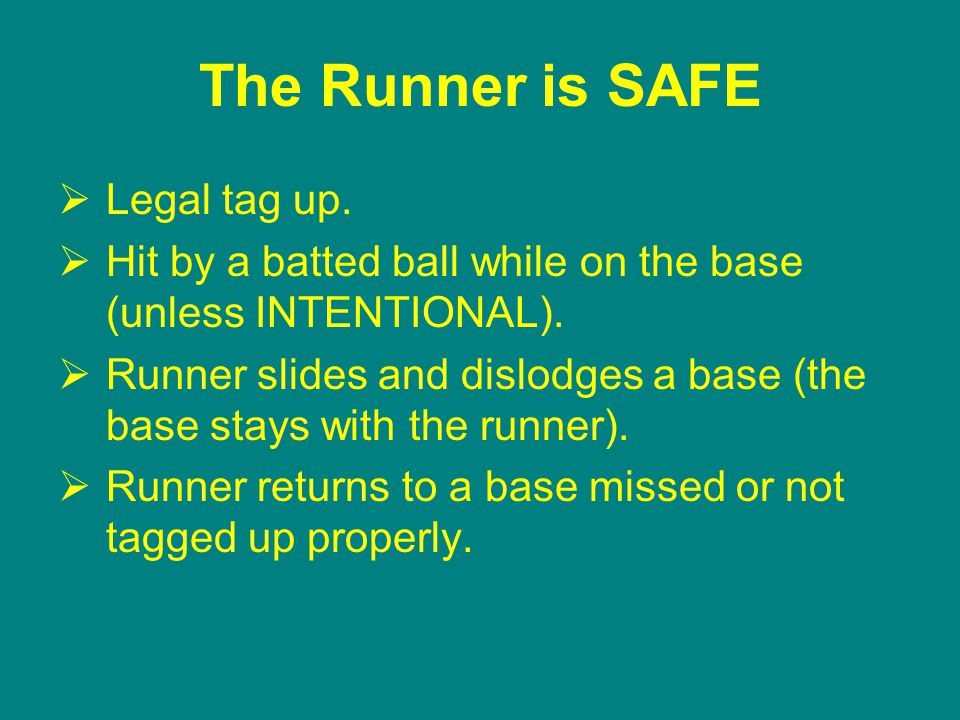 The Runner is SAFE  Legal tag up.  Hit by a batted ball while on the base (unless INTENTIONAL).