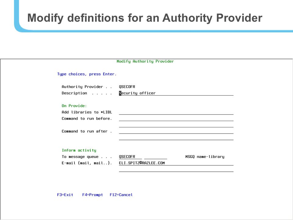 18 Modify definitions for an Authority Provider
