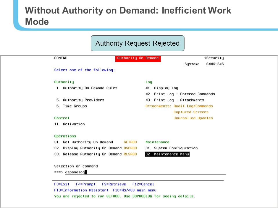 5 Without Authority on Demand: Inefficient Work Mode Sam Evans Programmer Has authorities for Test & Development Needs authorities for Production once a week Richard Garner Busy IT Manager Hi Sam… temporary authorities for the Production folder.
