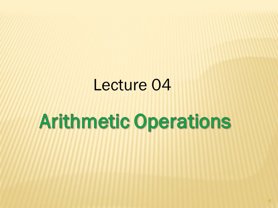Lecture 04 4