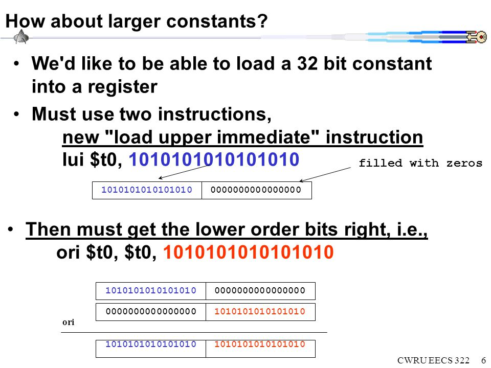 CWRU EECS 3226 How about larger constants.