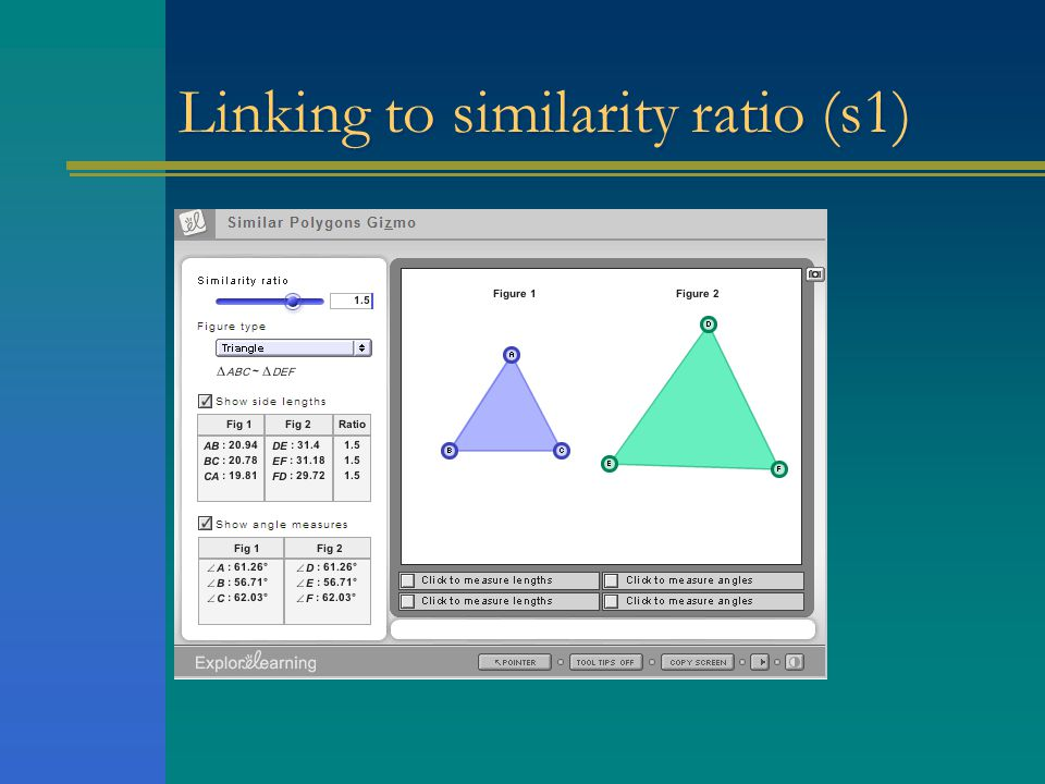 Linking to similarity ratio (s1)