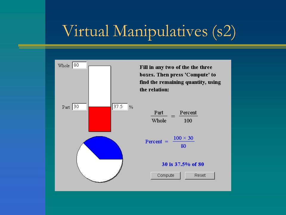 Virtual Manipulatives (s2)