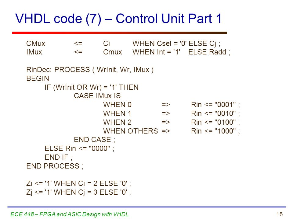 George Mason University ECE 448 – FPGA and ASIC Design with