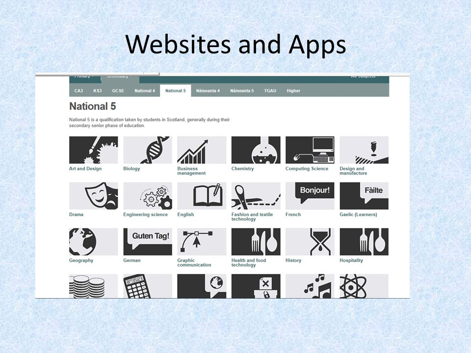 Websites and Apps