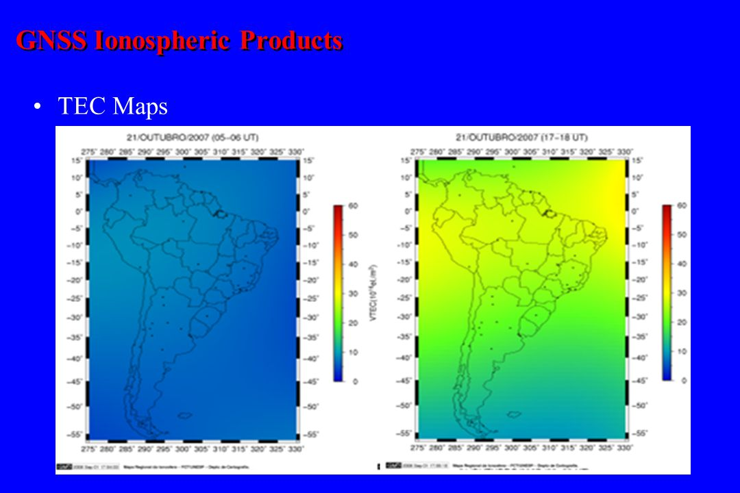 GNSS Ionospheric Products TEC Maps