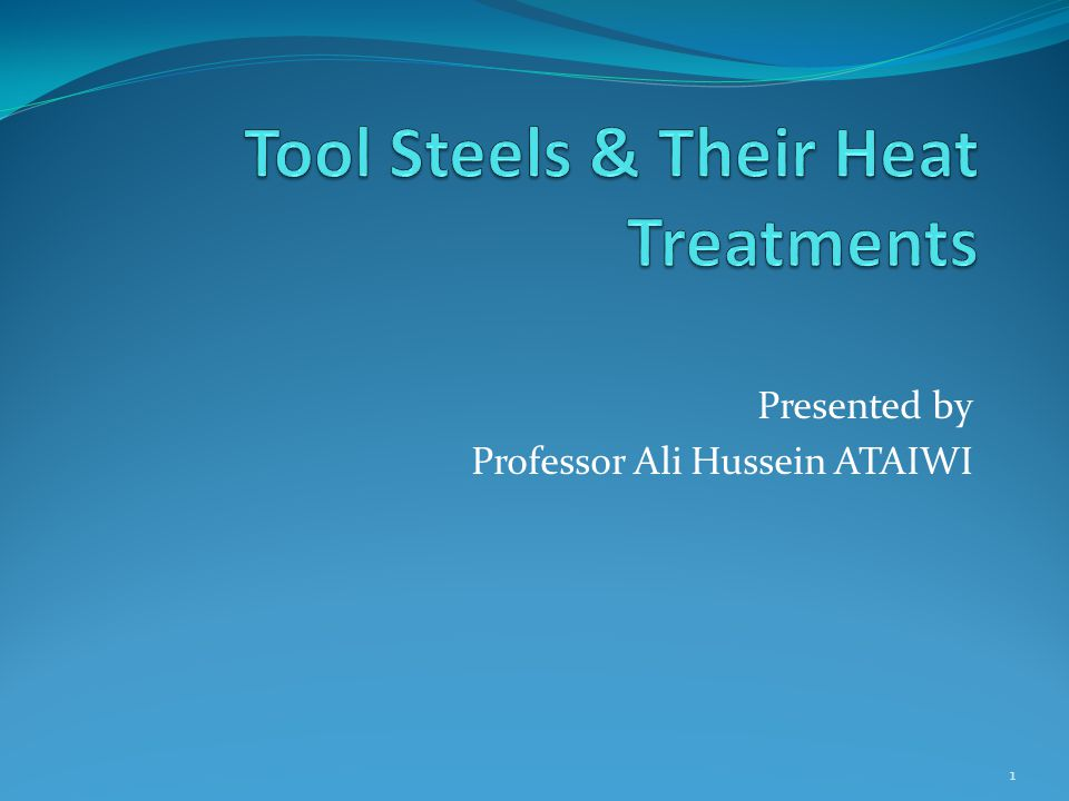 Presented by Professor Ali Hussein ATAIWI 1