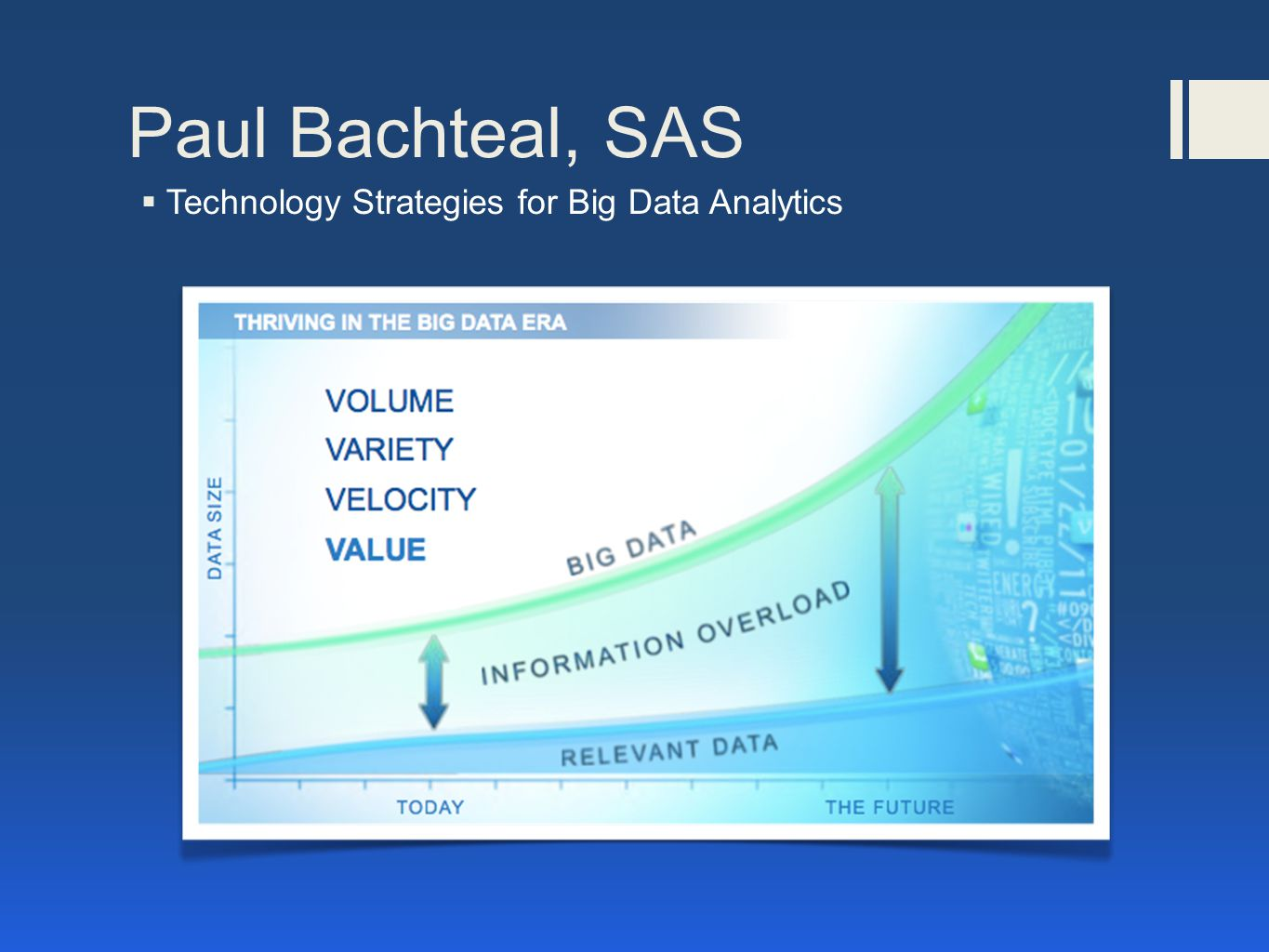 Paul Bachteal, SAS  Technology Strategies for Big Data Analytics