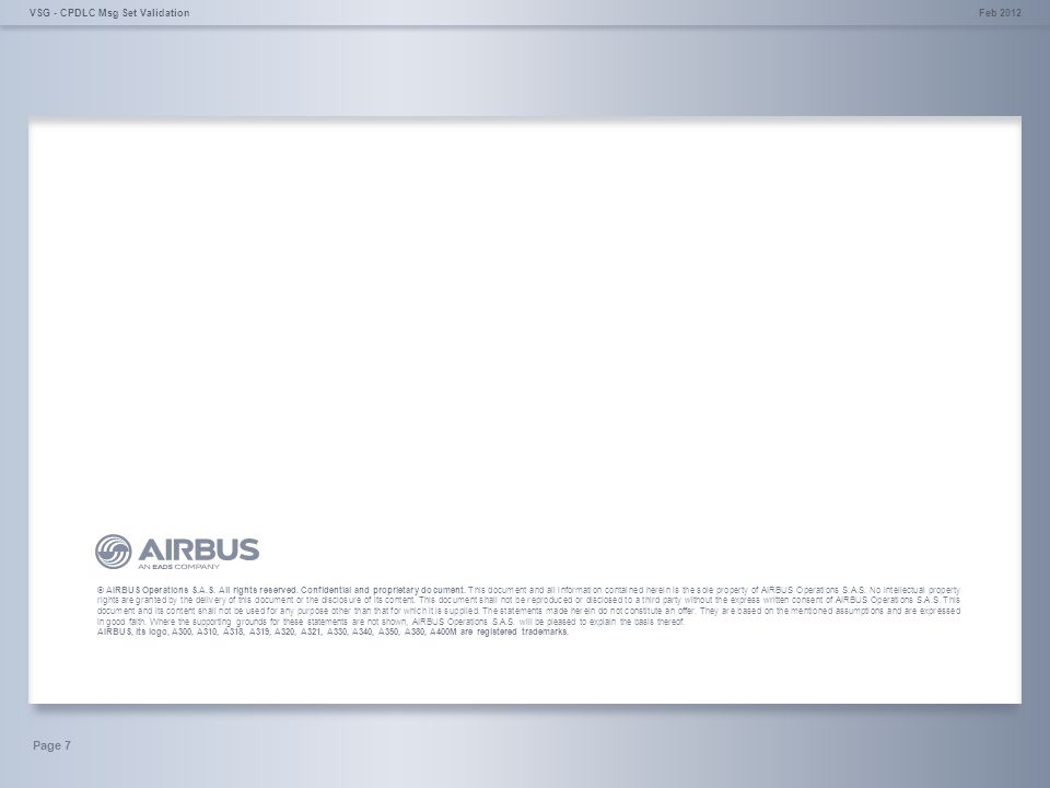 © AIRBUS Operations S.A.S. All rights reserved. Confidential and proprietary document.