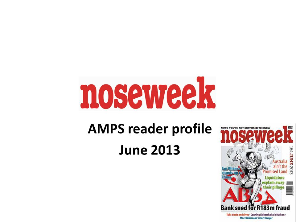 1 AMPS reader profile June 2013
