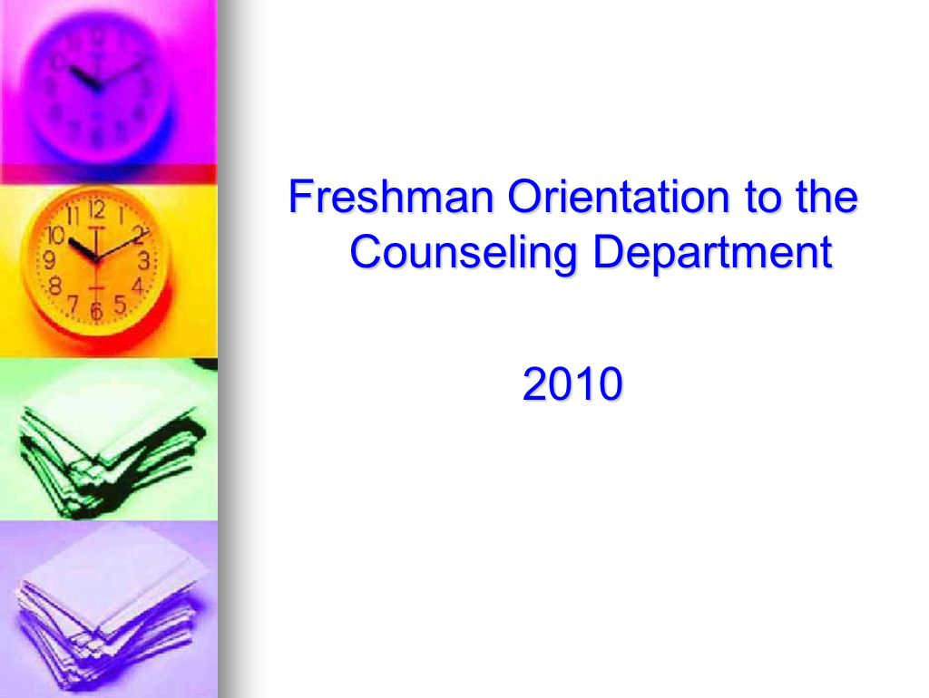Freshman Orientation to the Counseling Department 2010