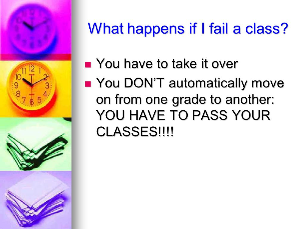 What happens if I fail a class.