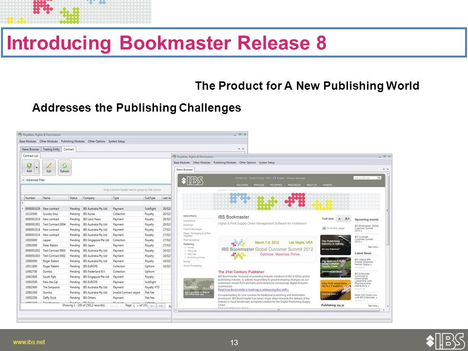 Introducing Bookmaster Release 8 The Product for A New Publishing World Addresses the Publishing Challenges