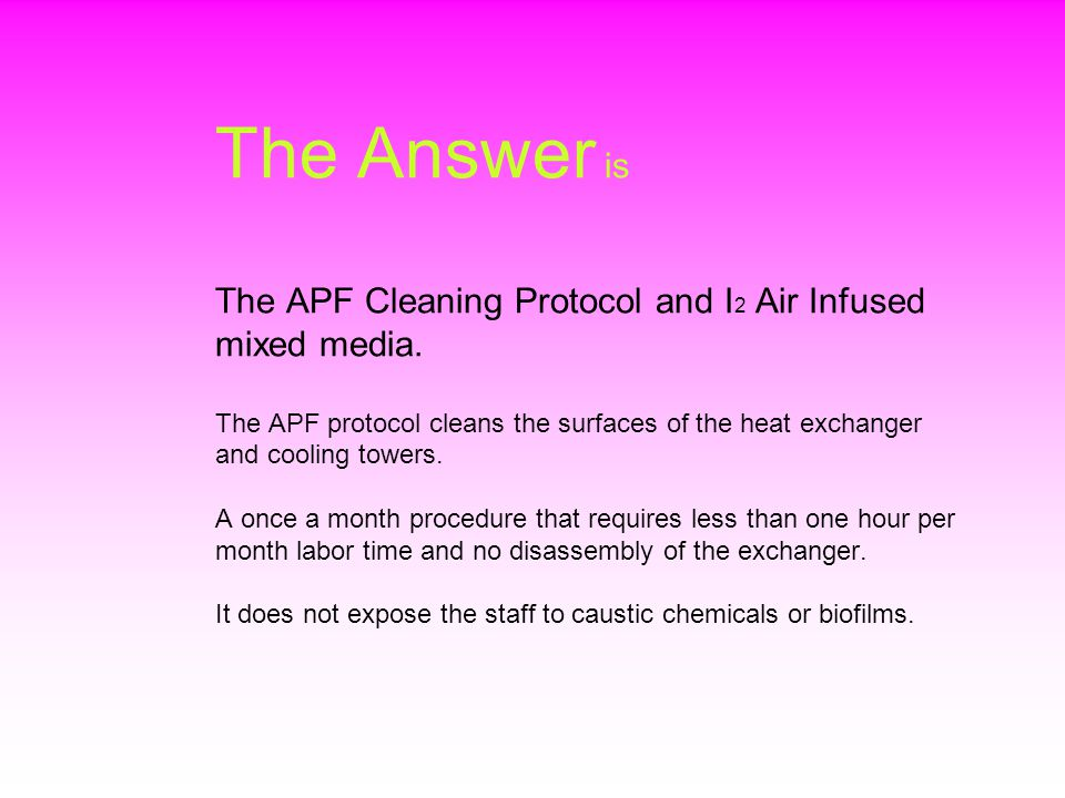 The Answer is The APF Cleaning Protocol and I 2 Air Infused mixed media.