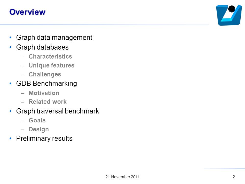 Benchmarking traversal operations over graph databases marek ciglan 2 overview graph data management graph databases characteristics unique features challenges gdb benchmarking motivation related work graph traversal malvernweather Choice Image