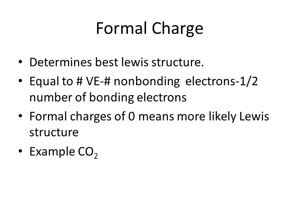 Formal Charge Determines best lewis structure.