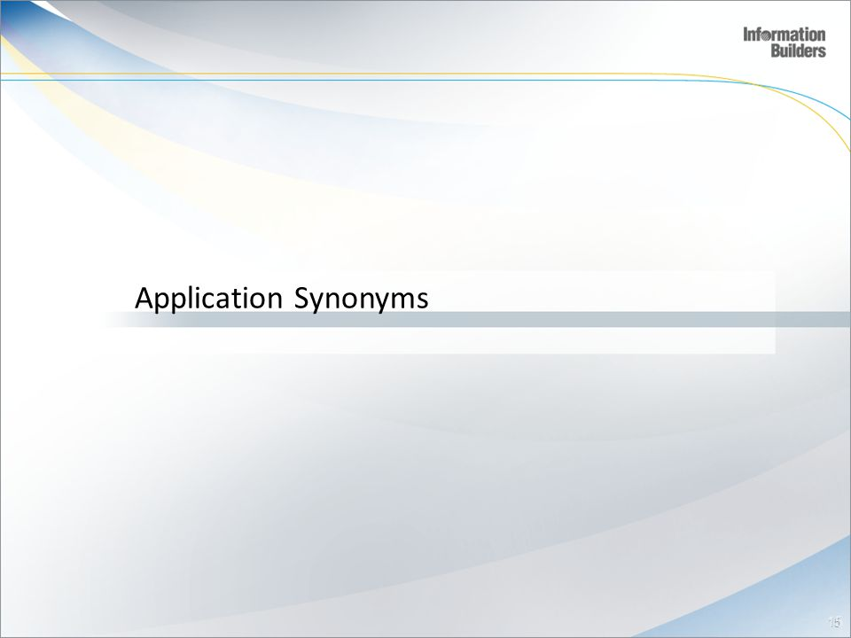 Application Synonyms 15