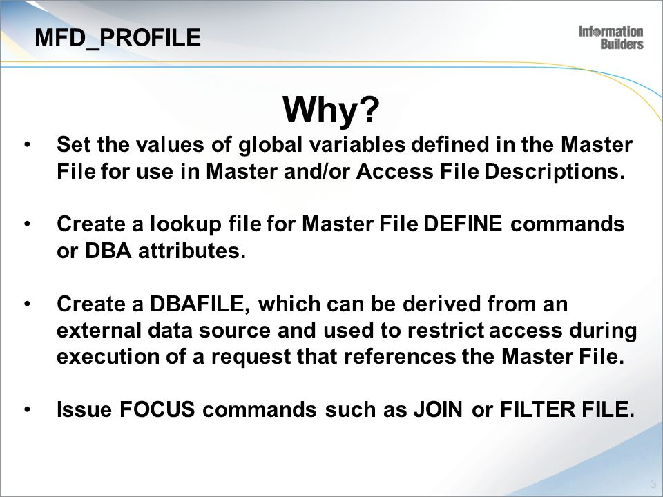 MFD_PROFILE Why.
