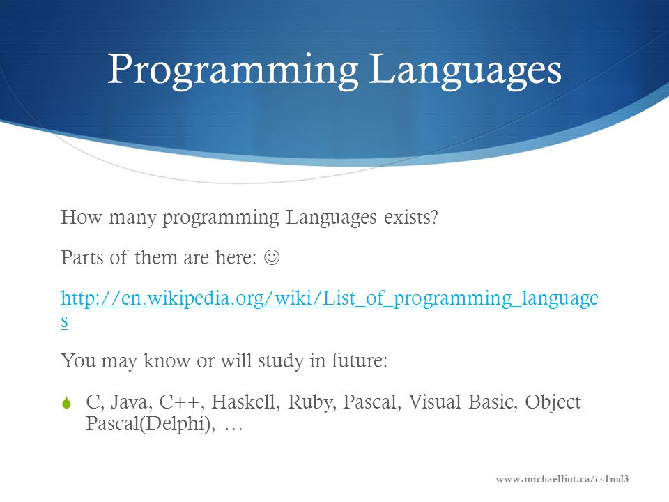 Programming Languages How many programming Languages exists.