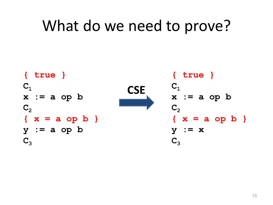 What do we need to prove.